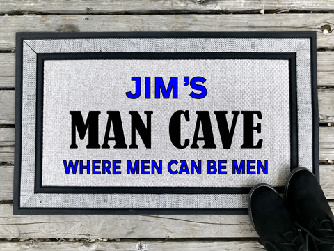 Man Cave - Personalized Door Mat