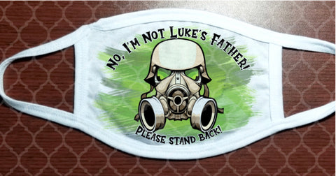 Face Mask - Stay Back, Gas Mask