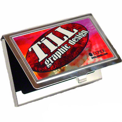 Business Card Holder, Image Printed Metal