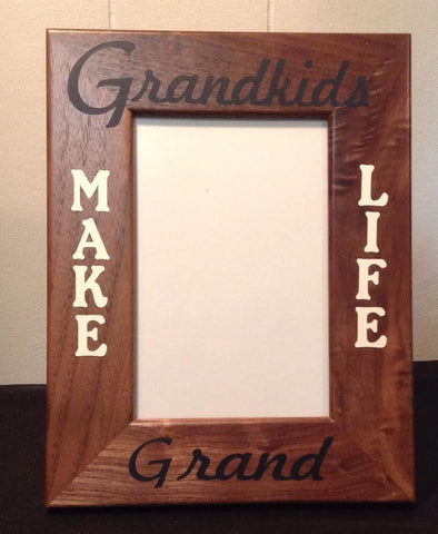 Grandkids Make Life Grand Picture Frame, Vertical Vinyl
