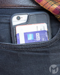 Cell Phone Wallet Case in Back Pocket