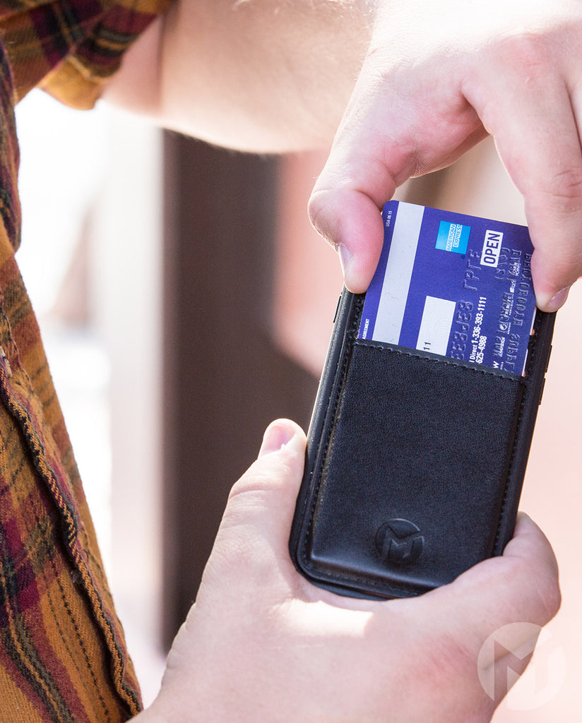 Sliding Credit Cards From Cell Phone Wallet