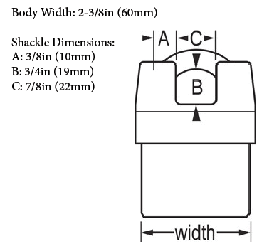 Master Model No. 6325 Diagram with dimensions