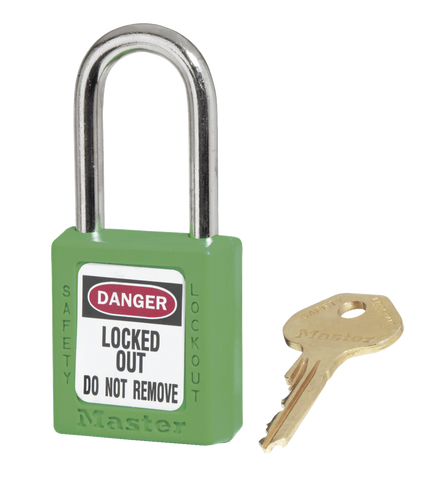 Green Zenex™ Thermoplastic Safety Padlock Model No. 410GRN