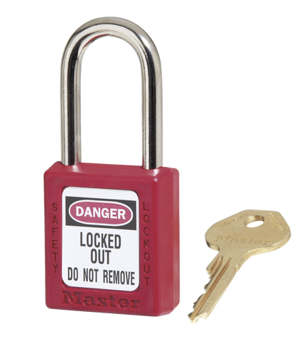 Red Zenex™ Thermoplastic Safety Padlock Model No. 410RED