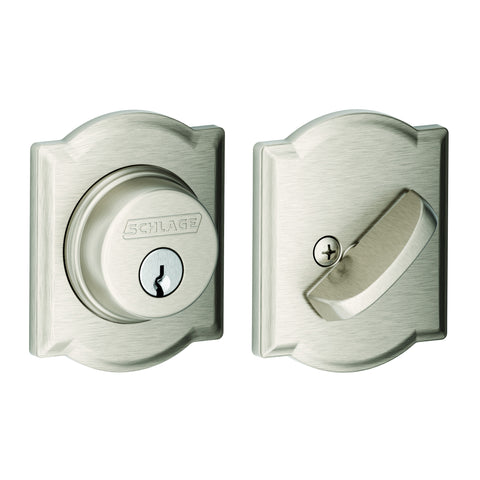 Schlage B60N  Single Cylinder Deadbolt with Camelot Trim