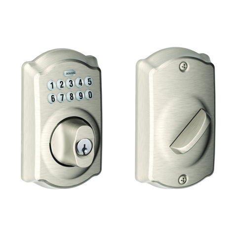 Schlage BE365 Electronic Keypad Deadbolt in Camelot Trim