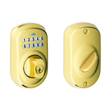 Schlage BE365 Electronic Keypad Deadbolt in Plymouth Trim