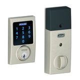 Schlage BE469 Connect Touchscreen Deadbolt with Alarm in Century Trim