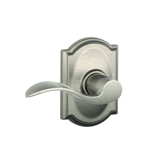 Schlage Passage F10 Accent Lever in Camelot Trim