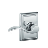 Schlage F10 Accent Passage Lever in Addison Trim