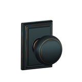 Schlage F10 Andover Passage Knob in Addison Trim