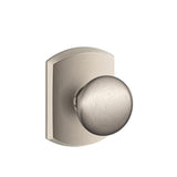 Schlage F10 Plymouth Passage Knob in Greenwich Trim