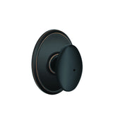 Schlage F40  Siena Privacy Knob in Wakefield Trim