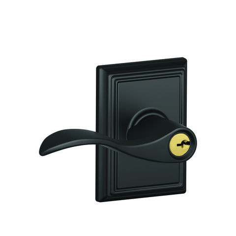 Schlage F51A Accent Entrance Lever in Addison Trim
