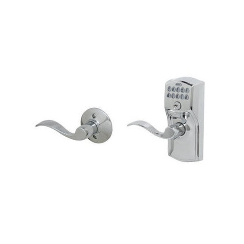 Schlage FE575 Camelot Electronic Entrance Lock in Accent Style