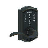 Schlage FE695 Camelot Touch Keyless Leverset in Accent Style