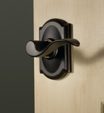 Schlage F10 Accent Passage Lever in Camelot Trim
