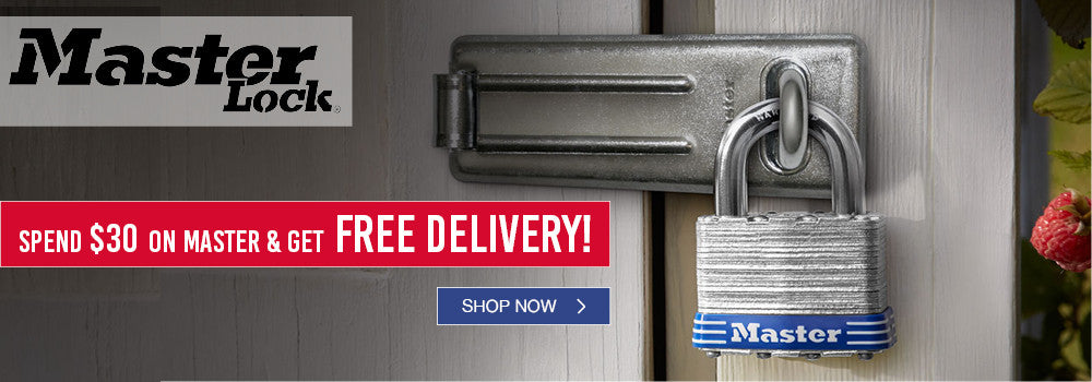 Spend $30 on Master Lock for free delivery