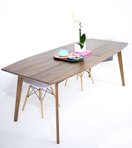 Example of our finish on Santa Monica Table