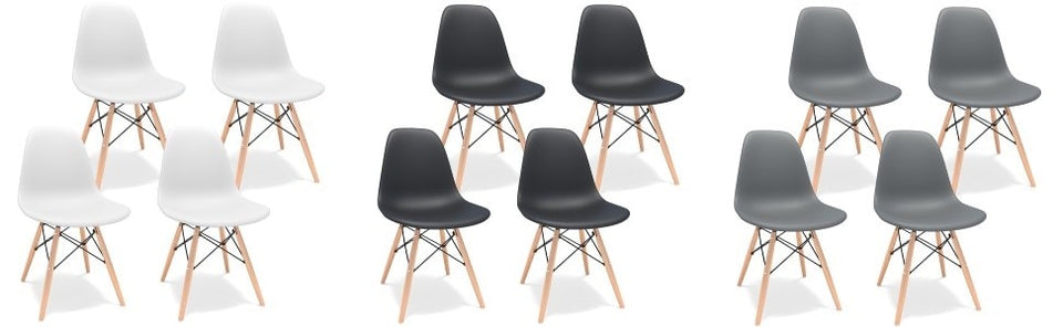 Eames DSW Reproduction Chairs, Set of 4