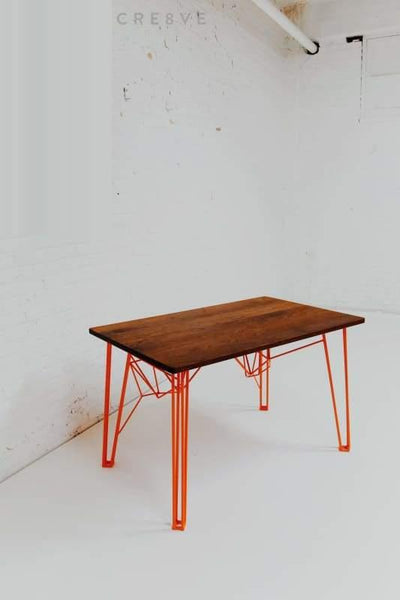 The Yoshi Desk - danish modern table hairpin leg mid century New
