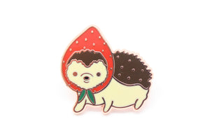 Strawberry Hedgehog Pin