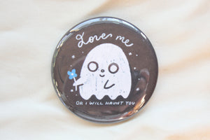 Love Me Ghost Button