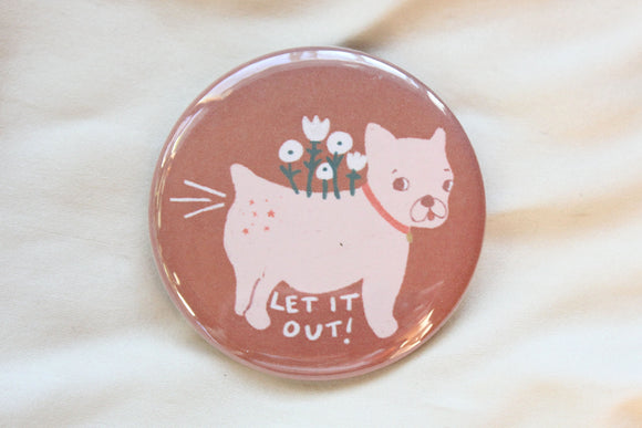 Let It Out Puppy Button