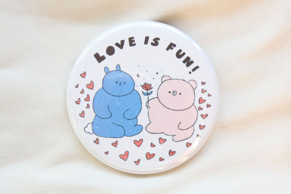 Love Is Fun Button