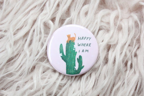 Happy Where I Am Button