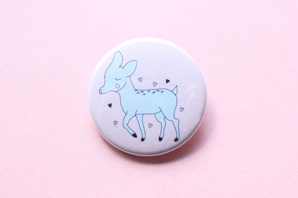 Doe Deer Button