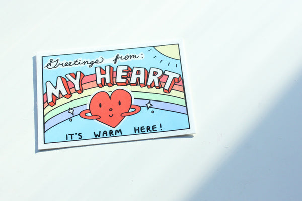 Greetings From My Heart Sticker