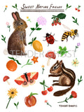 Nature Friends Sticker Sheet