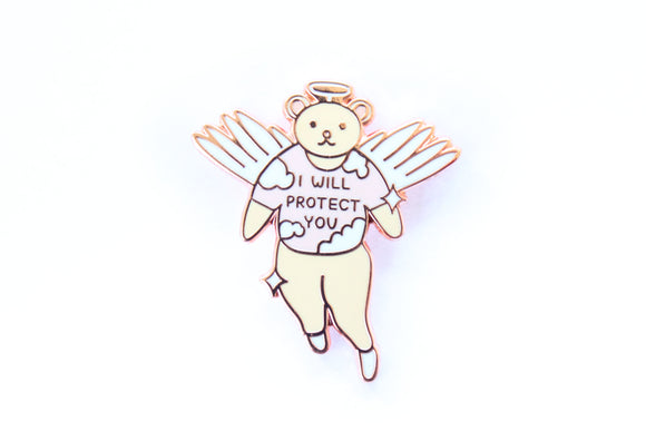 I Will Protect You Angel Pin