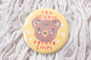 Potato Chips Bear Button