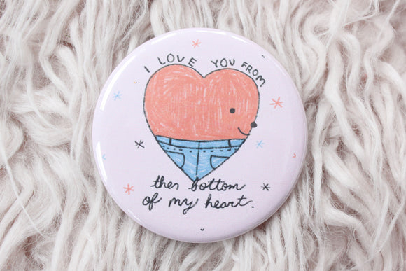 Bottom of My Heart Button