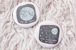 Lonely Comic Button Set