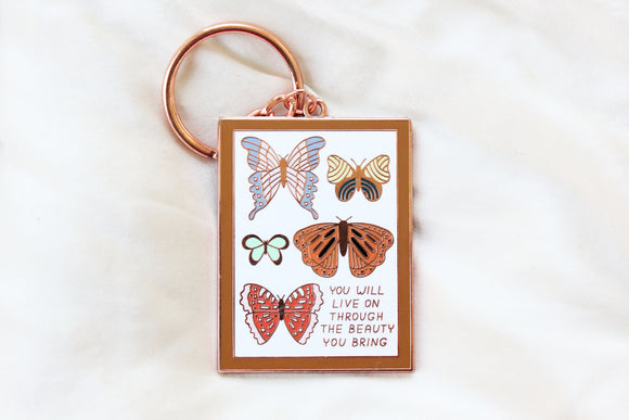 Beauty You Bring Butterfly Mount Keychain