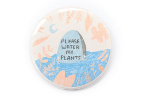 Water My Plants Grave Magnet