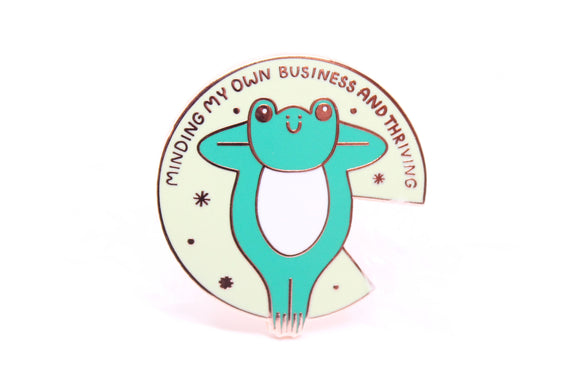 Thriving Frog Pin