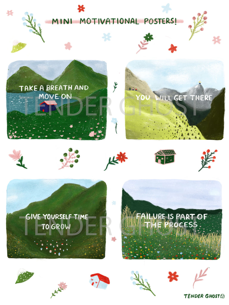 Mini Motivational Posters Sticker Sheet