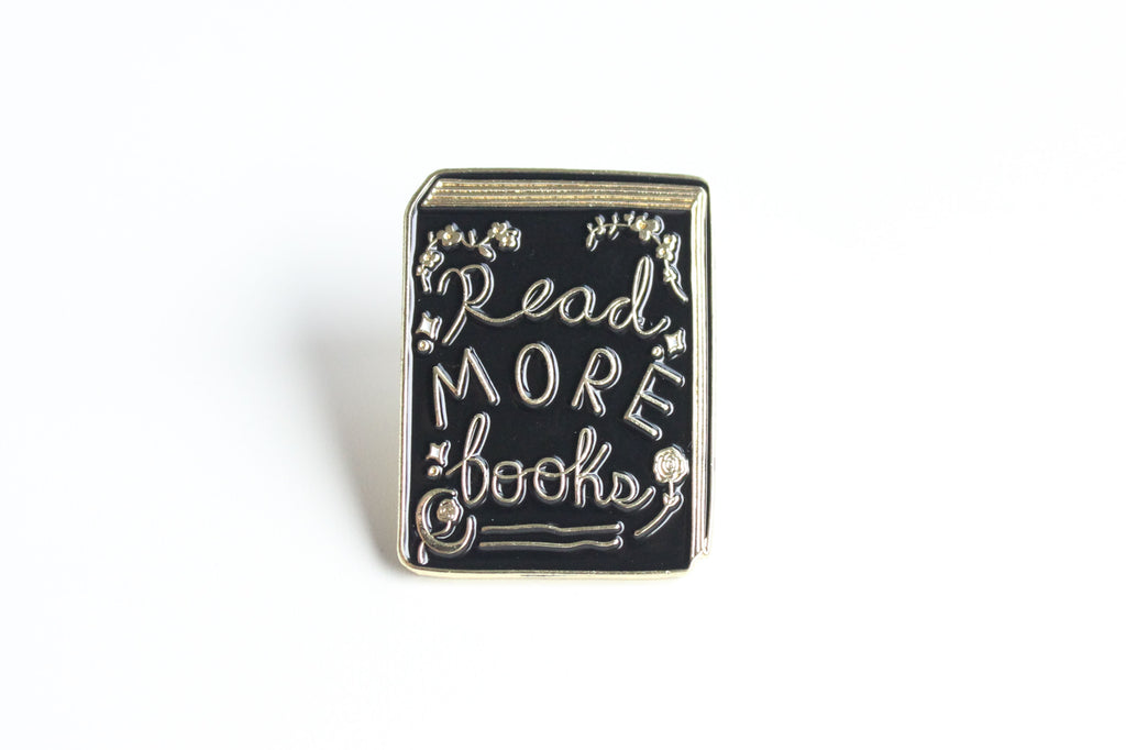 Read More Books Pin Black