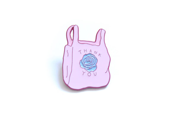 Thank You Bag Enamel Pin