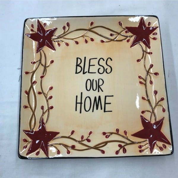 Bless Our Home Platter