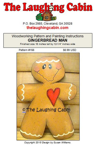 Gingerbread Man Painting & Woodworking Pattern
