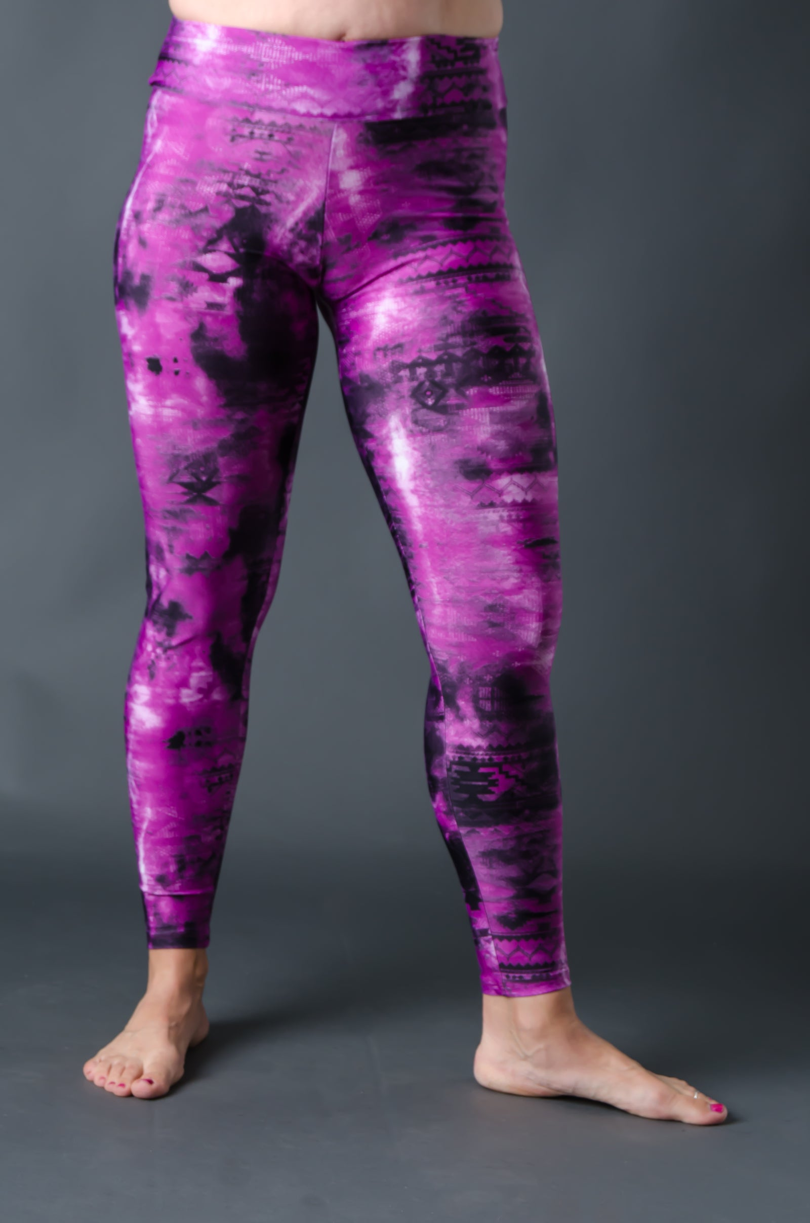 2nd Skin Compression - (Full Length) - Pink Tie Dye