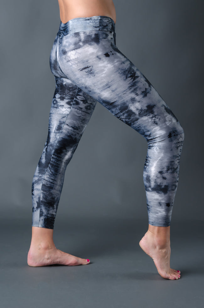 2nd Skin Compression - (Full Length) - Grey Tie Dye