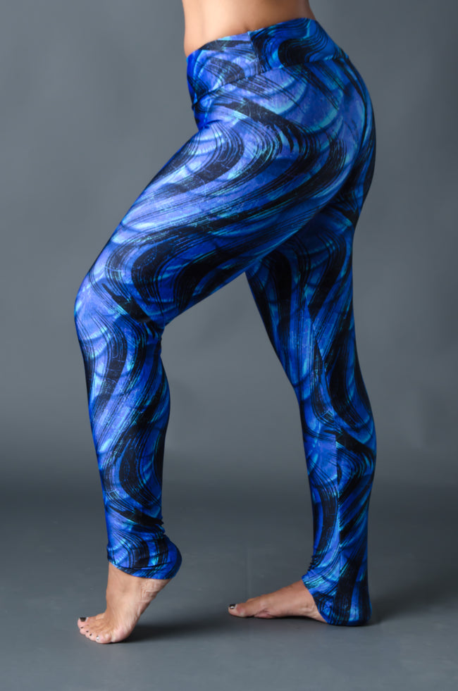2nd Skin Compression - (Full Length) - Blue Tie Dye