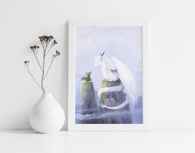 Dragon Art Print - Troll and Dragon